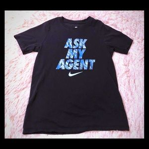 "🌀 Nike ""Ask My Agent"" T-Shirt ✨Sz. M 🌀"